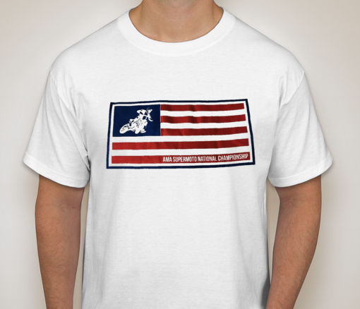 Official AMA Supermoto USA Flag T-Shirt