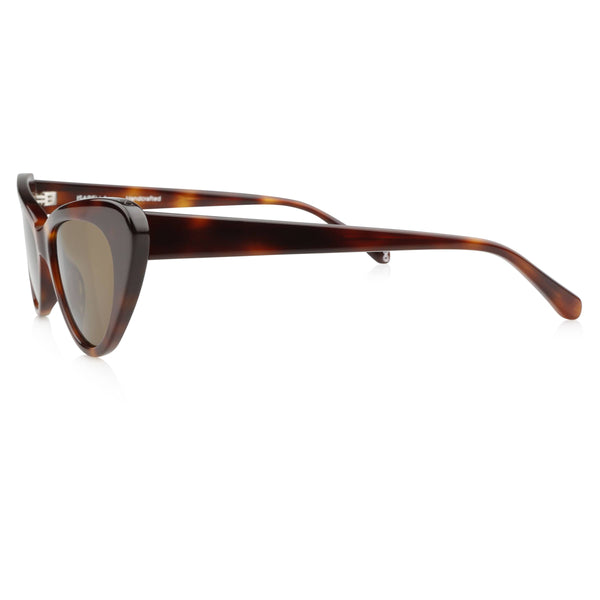Ollie Quinn isabella polarised women's sunglasses in havana side