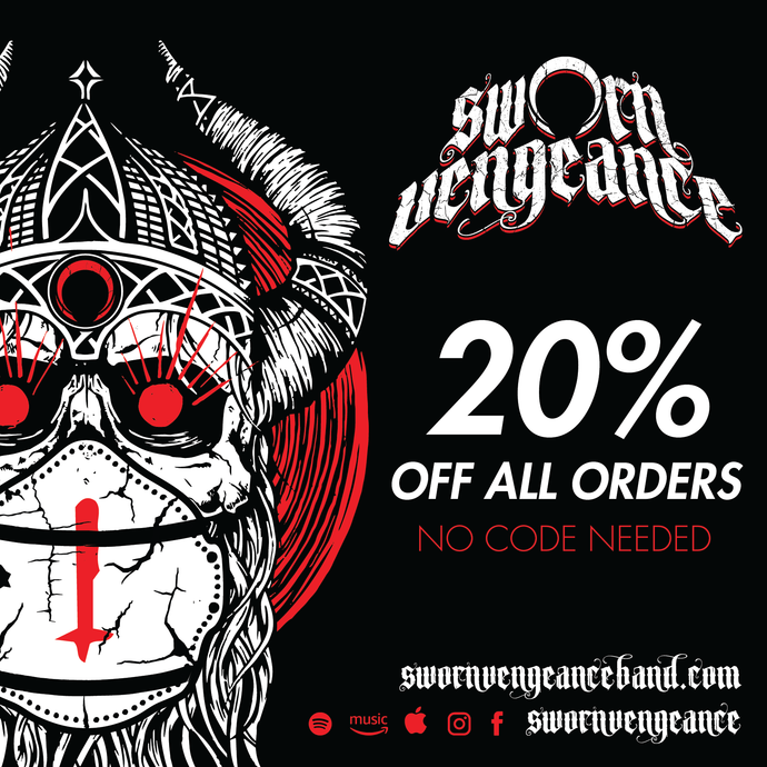 20% discount on all purchases