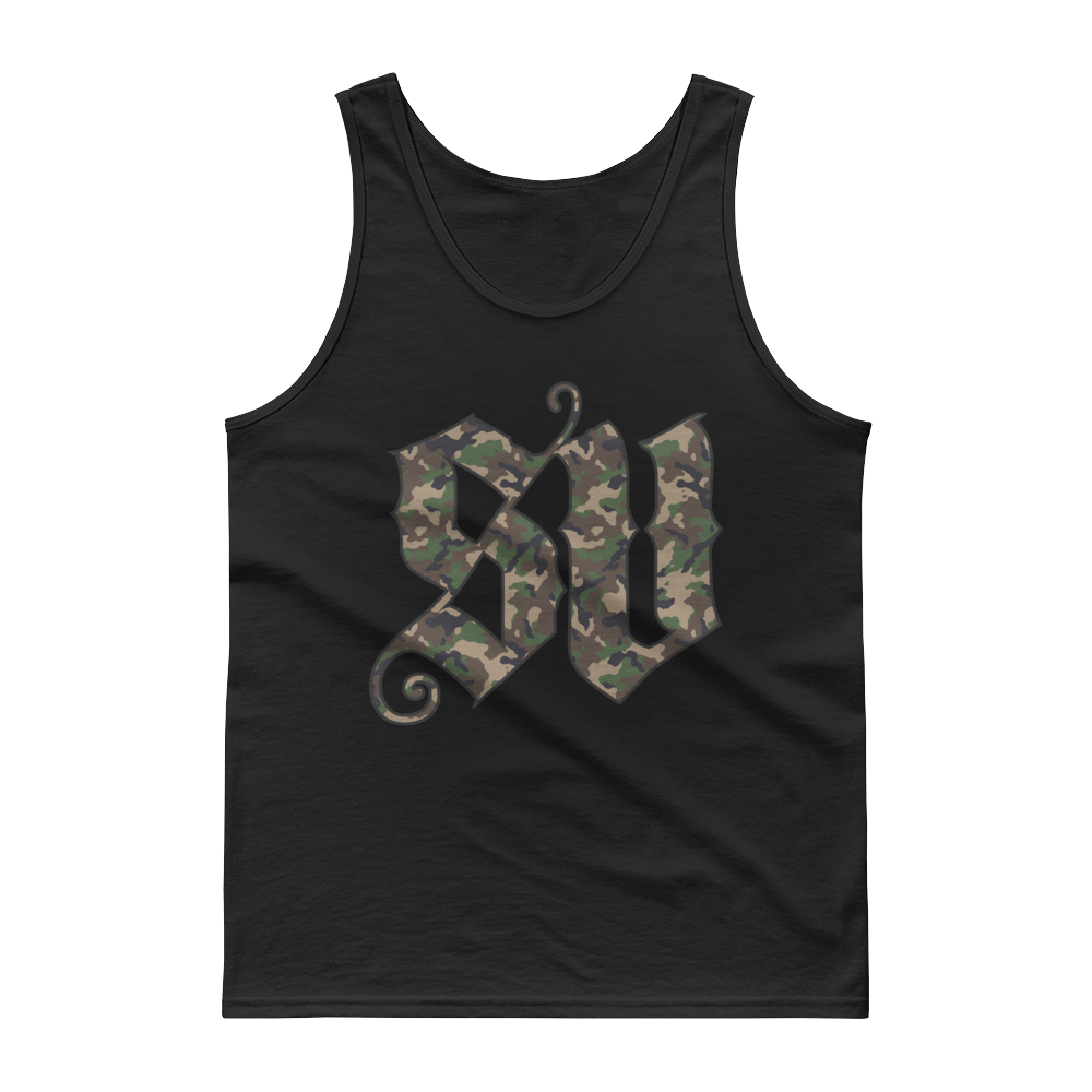 SV Camo Initials men's tank top