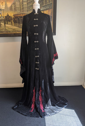 Black Gothic Wedding Cloak/ Gown