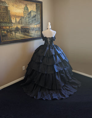 Gothic Victorian Vampire Ball Gown