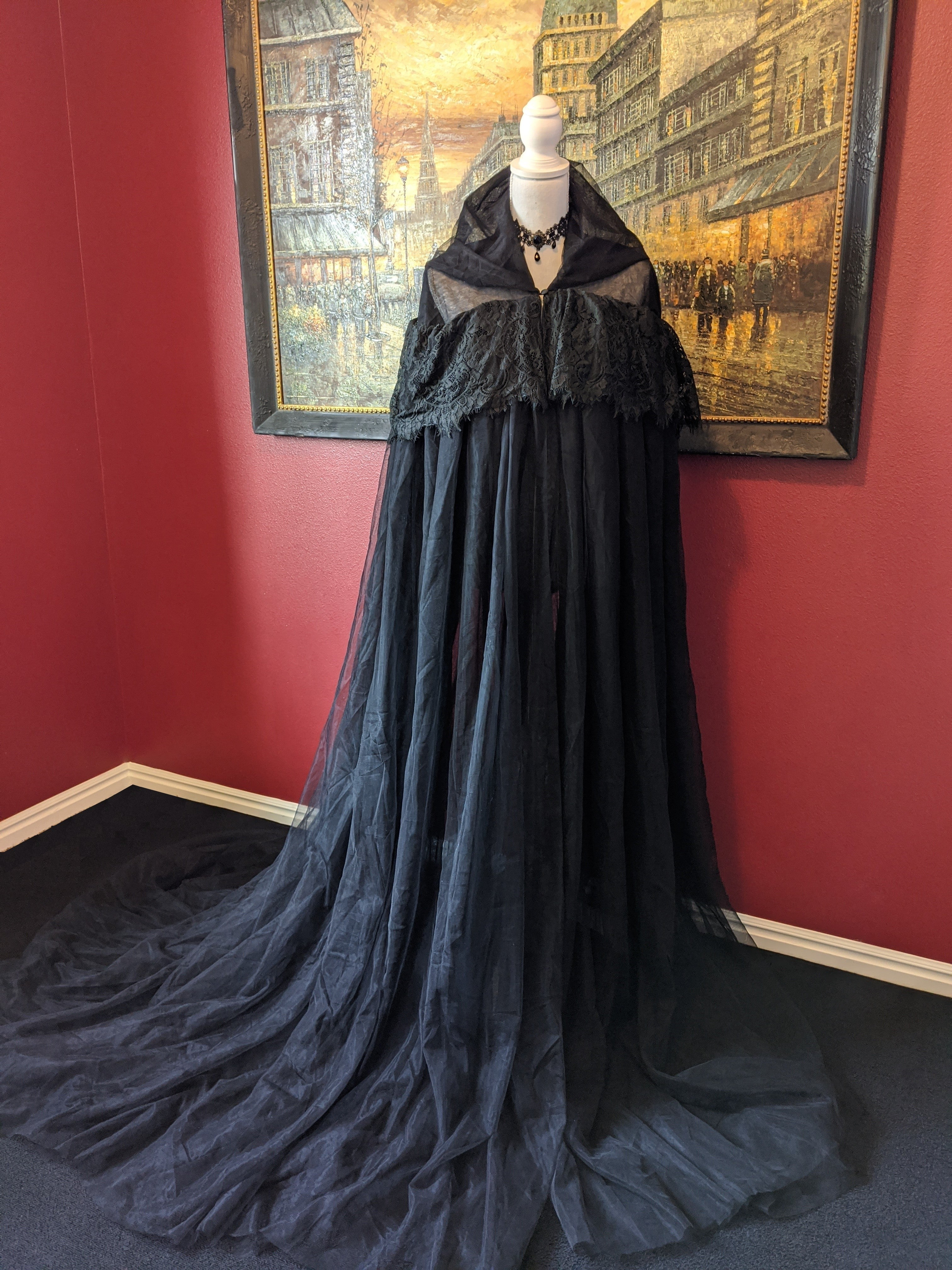 Hooded Gothic Medieval Wedding Cloak