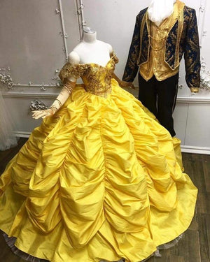 Luxury Yellow Ball Gown