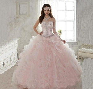 Shining Ball Gown Quinceanera Dress with  Ruffles
