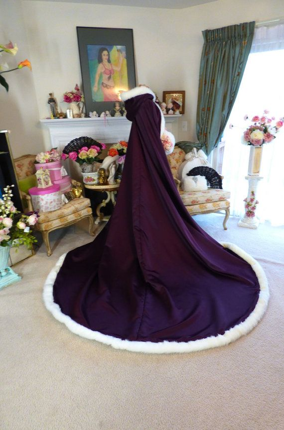 Medieval Purple Wedding Cloak