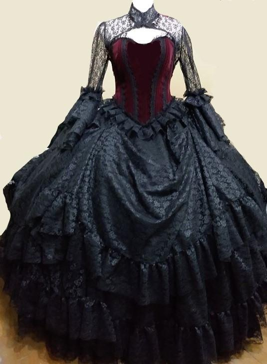 Vintage Victorian Gothic Wedding Dress