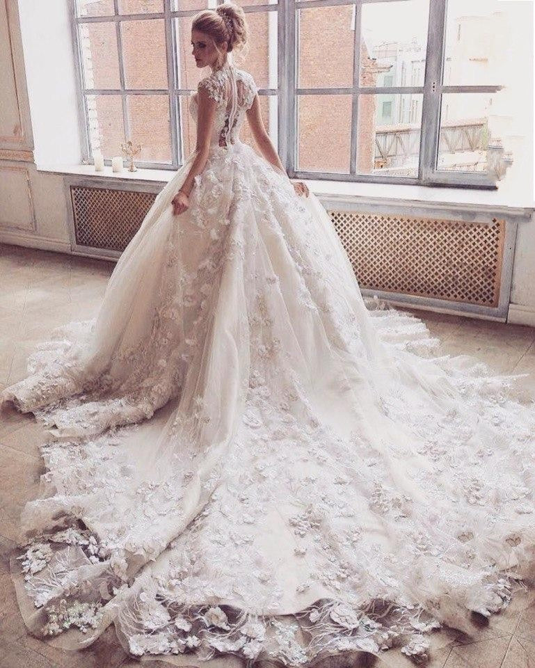 Princess Wedding Dress with Cathedral Train