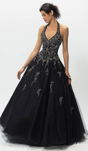 Custom Made Black Beaded Gown