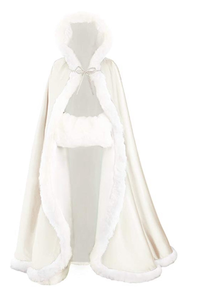 Hooded Bridal Cape / Cloak....   17    Colors