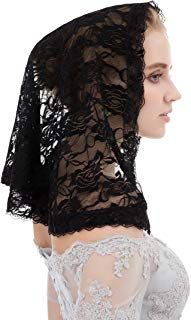 Black Lace Head Veil