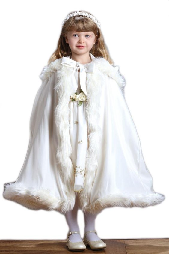 Flower Girls Elsa Cape in 17 Colors
