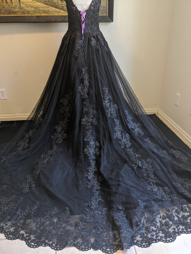 Black Vintage Gothic Wedding Dress
