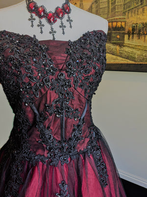 Gothic Black Beaded Gown