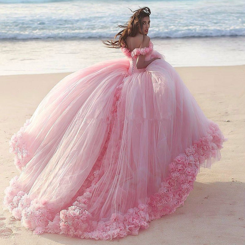 Pink Handmade Princess Ball Gown