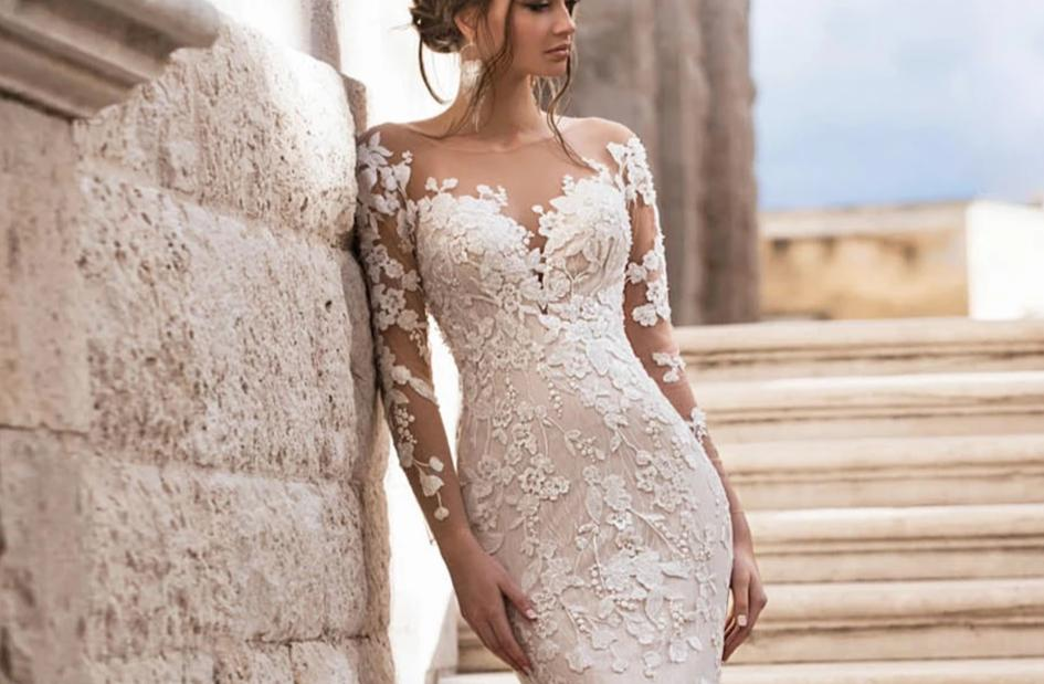 Sweetheart Romantic Lace Mermaid Wedding Dress