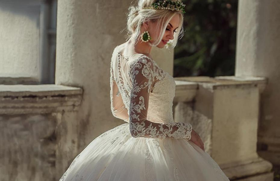 Long Sleeve Princess Ball Gown
