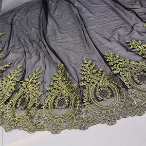 New Gold Lace Vintage Wedding Veil