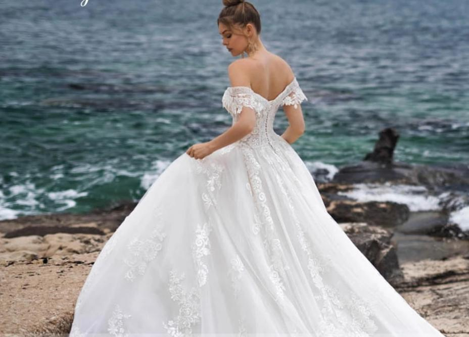 Sweetheart  Cathedral Train  Wedding Dress