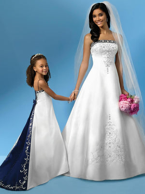 Satin Embroidery Wedding Dresses