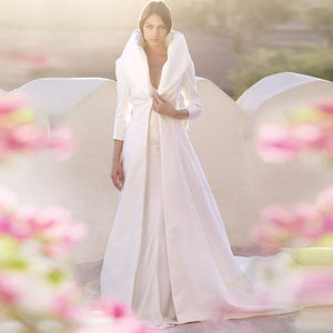 Wedding Cloak With 3/4 Sleeves