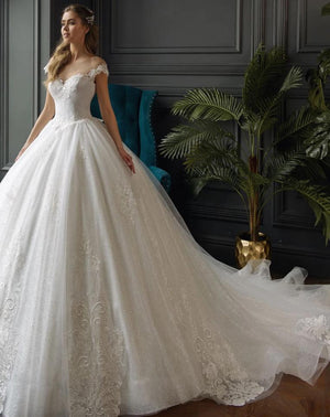 Elegant Lace Princess Bridal  Gown