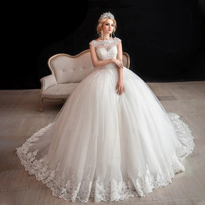 Elegant  Princess Ball Gown Wedding Dress