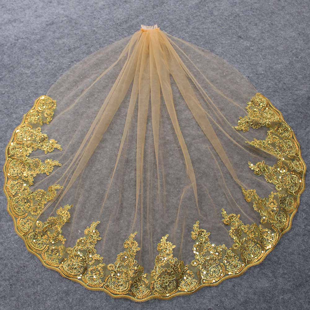 Royal Gold Wedding Veil