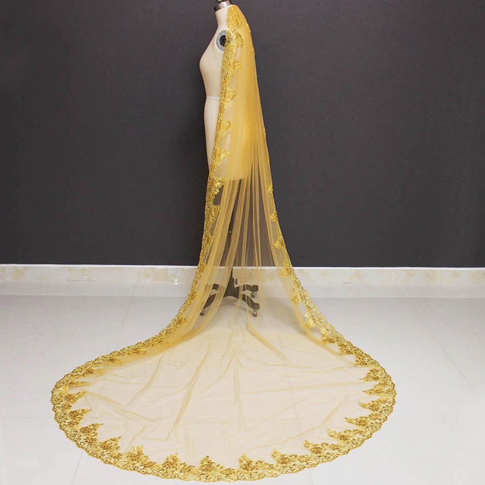 Medieval Gold Wedding Veil
