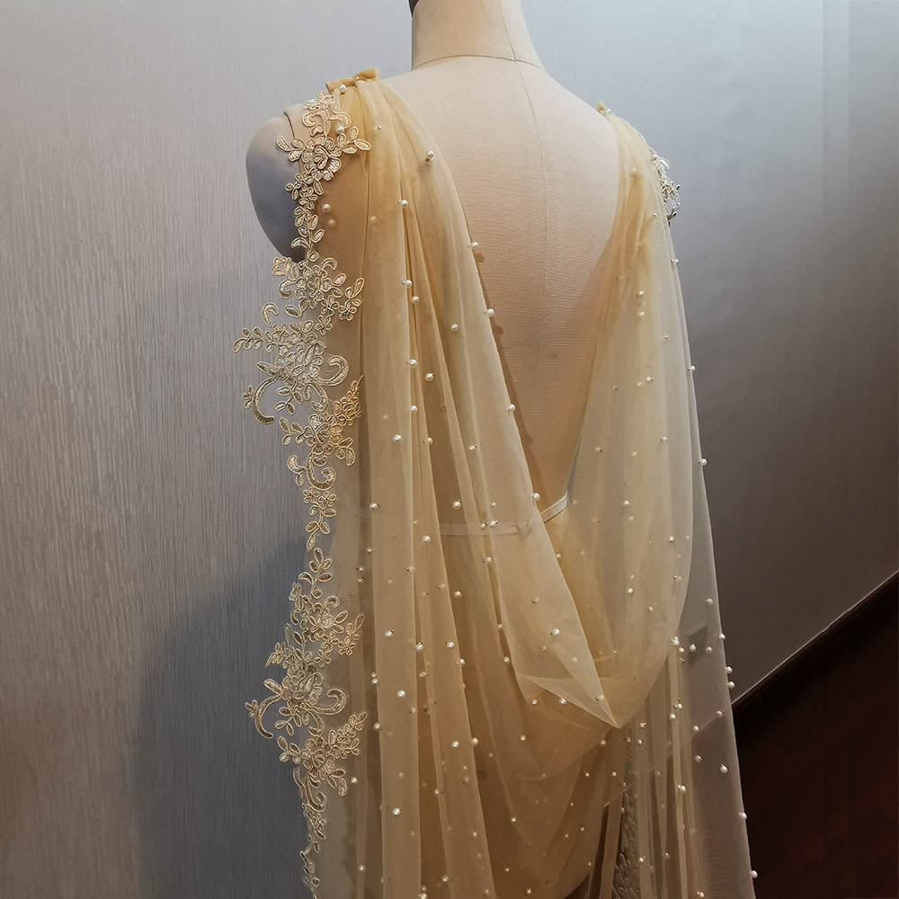 Champagne Shoulder Veil