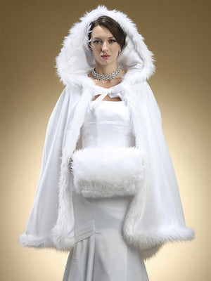 Winter Wedding Cloak Cape
