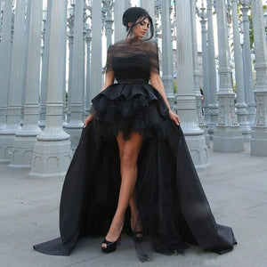 Black High/ Low Gothic Gown
