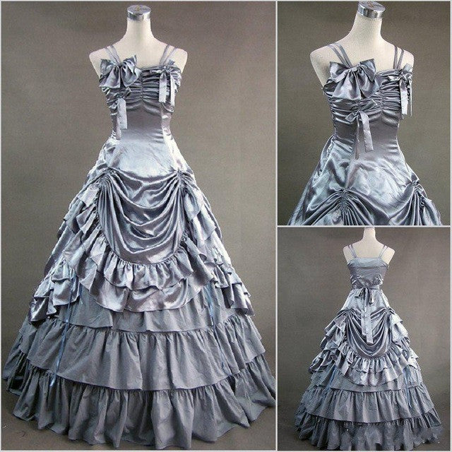 Victorian Ball Gowns  Bows /Satin
