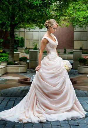 Vintage Blush Pink Wedding Dress