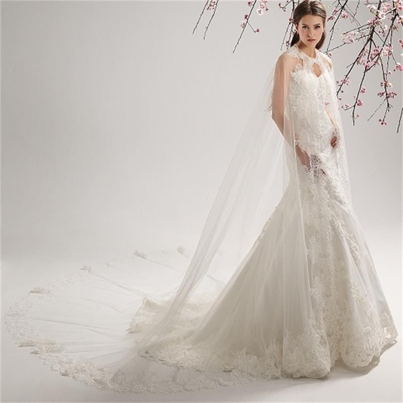 Elegant Bridal Wedding Coat Sheer Lace