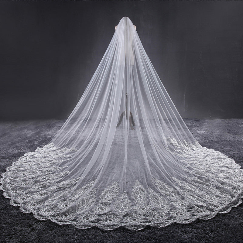 3.8 Meter Ivory Cathedral Wedding Veils