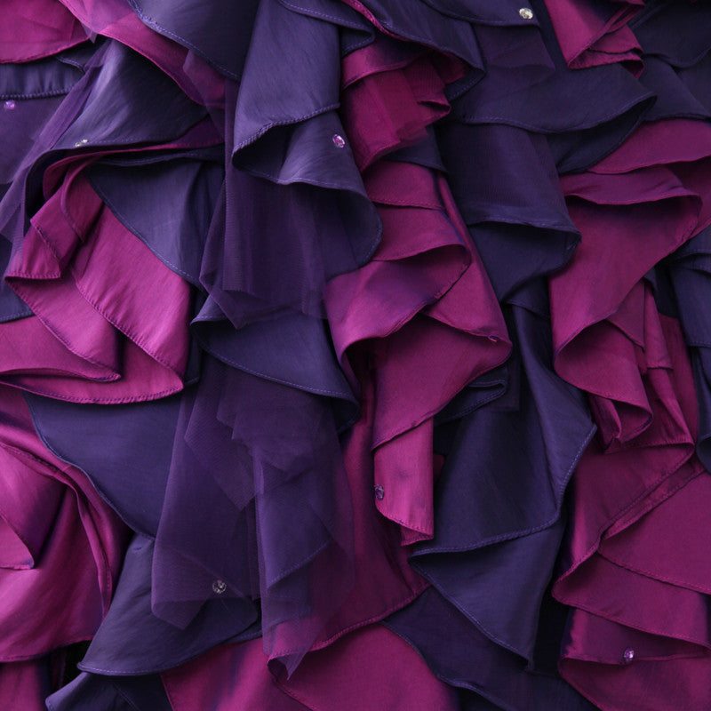 Purple and Black Gothic Ball Gown