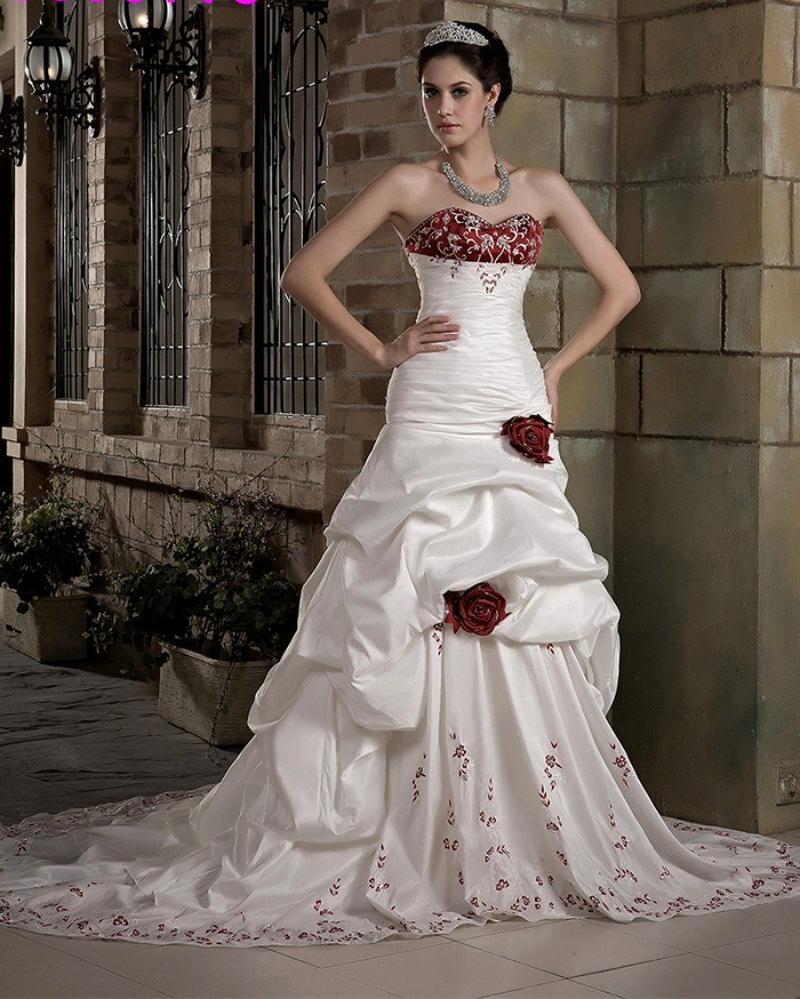b425191a7 Vintage White And Red Wedding Dress. Also comes in Black ( Custom Colors  Available)