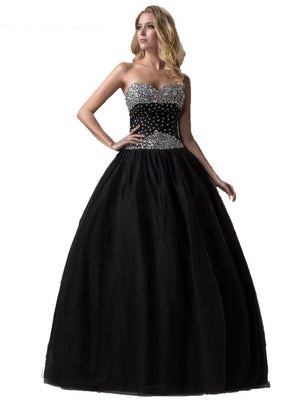 Black Gothic Princess Prom Dress