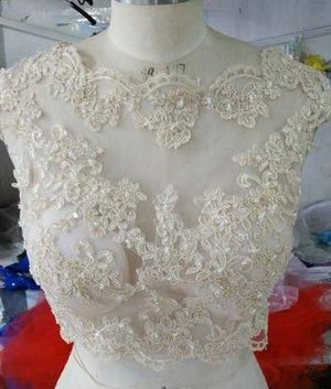 Tulle with Appliques Bridal Wedding Bolero