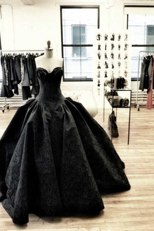 Black Gothic Corset Wedding Gown