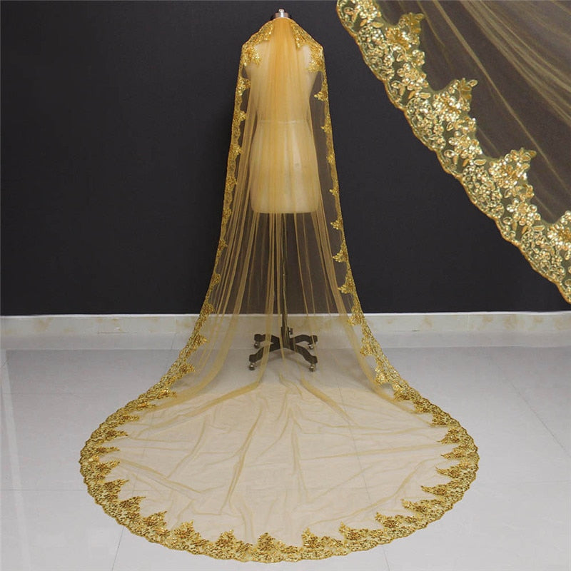 Gold Wedding Veil
