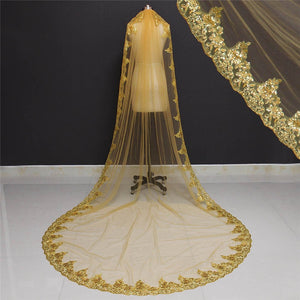 Vintage Gold Wedding Veil