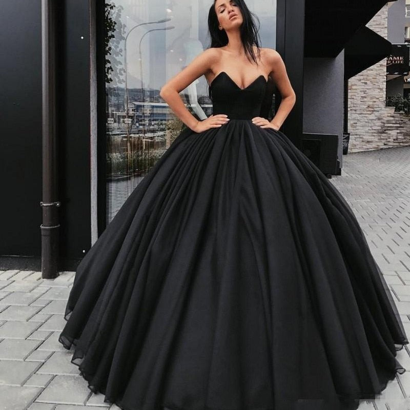 Black Corset Wedding Gown