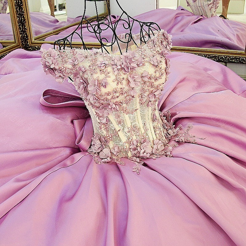 Flower Petals Princess Ball Gown