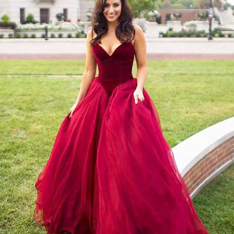 Vampire Red Tulle Ball Gown