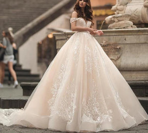 Chapel Train Princess Wedding Gown