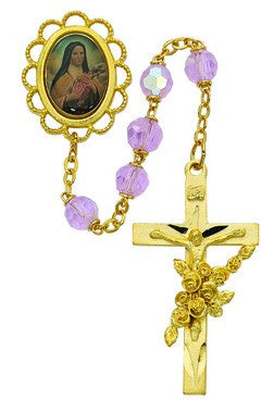 Gold Rose St. Therese Rosary
