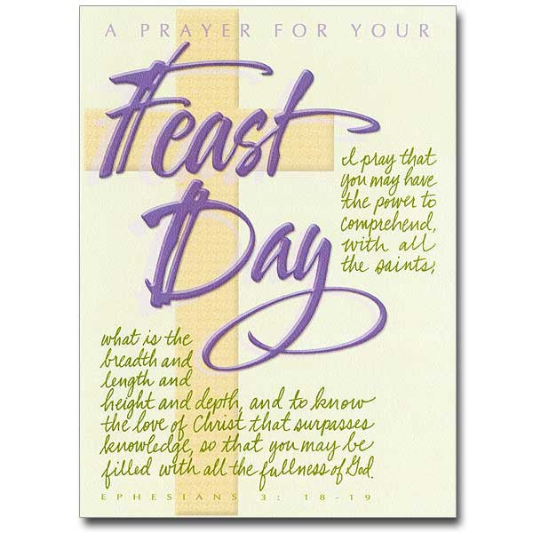 A Prayer For Your Feast Day - 10 Pack