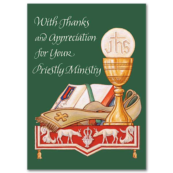 With Thanks and Appreciation for Your Priestly Ministry - 5 Pack